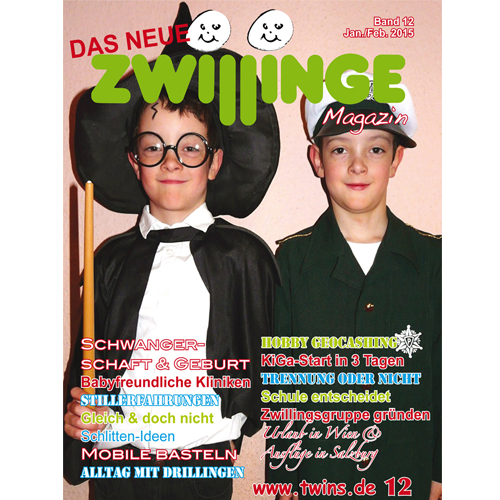 das neue zwillinge magazin 12 zwillinge zeitschrift magazin f r zwillinge und. Black Bedroom Furniture Sets. Home Design Ideas