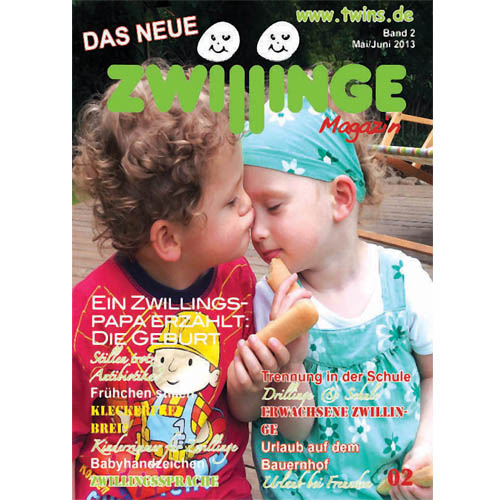 das neue zwillinge magazin 02 zwillinge zeitschrift magazin f r zwillinge und. Black Bedroom Furniture Sets. Home Design Ideas